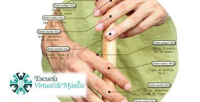 posición de los dedos en la gaita
